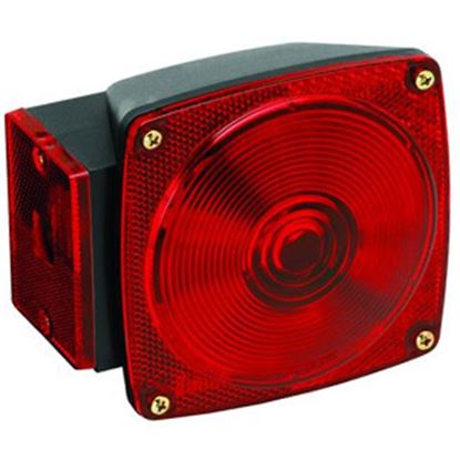 """Picture of Bargman 80 Series Red 4-3/4""""x4-1/2""""x2-9/16"""" Tail Light 2823283 18-0289"""