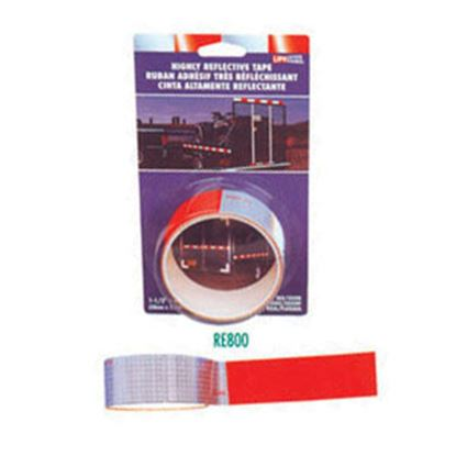 "Picture of Top Tape  Red/Silver 1-1/2"" x 4' Roll Reflective Tape RE800 18-0372"