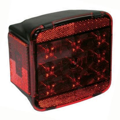 "Picture of Peterson Mfg.  Red 5.04""x4.72"" LED Stop/ Turn/ Tail/ License Light V840L 18-0382"