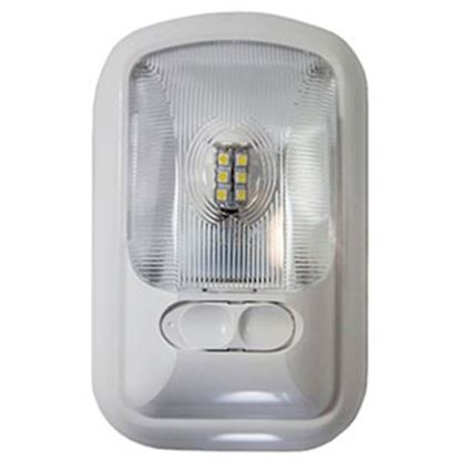 Picture of Arcon  Bright White 12V LED Ceiling Single Interior Light w/Clear Lens 20669 18-0842