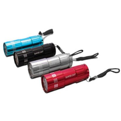 Picture of Green LongLife GoWISEUSA (R) Red/Blue/Silver/Black LED Battery Operated Flashlight GW29002 18-0944
