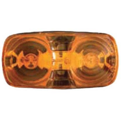 "Picture of Optronics  Amber 4-1/16""L x 2-1/8""W x 1-1/8""D Clearance/ Side Marker Light MC42AS 18-1007"