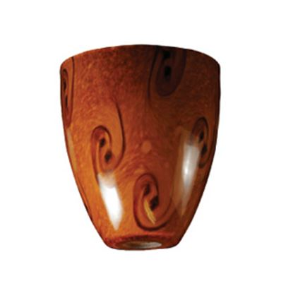Picture of ITC  Traditional Shape Glass Pendant Light Shade w/ Brown Swirl 2089-BN 18-1459