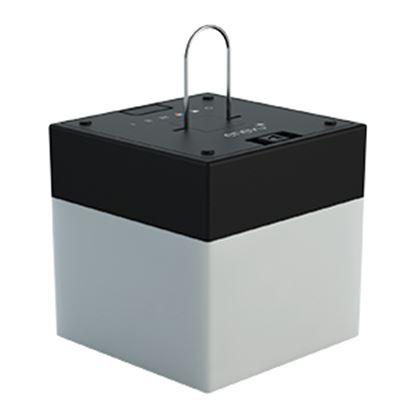 Picture of Enevu  Black Base Cube Shape Party Light Globe 51001 18-2362