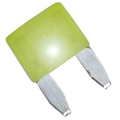 Picture of Diamond Group  2-Pack Time Delay 20A ASP Mini Yellow Blade Fuse DGIF113VP 19-0003