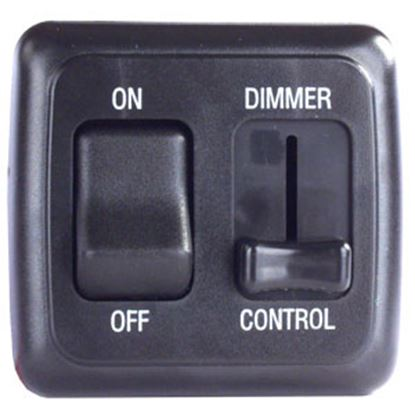 Picture of JR Products  Black 15A/ 12V Dimmer Switch 12275 19-0163