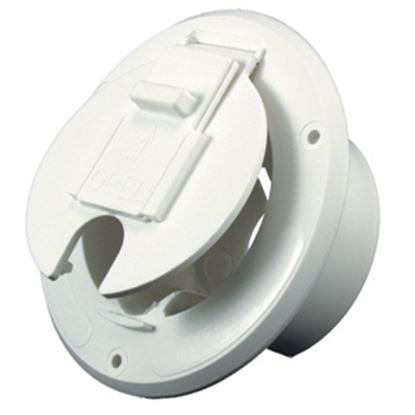 """Picture of JR Products  Polar White 2-27/32""""RO Round Electrical Hatch Access Door S-23-10-A 19-0204"""