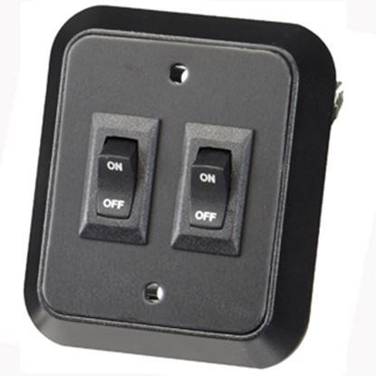 Picture of JRV Products  Non-Lighted Double Rocker Tank Monitor System Panel Switch A8977RBL 19-0218