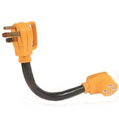 """Picture of Camco Power Grip (TM) 18"""" 50A Extension Cord w/Plug Head Handle 55215 19-0487"""