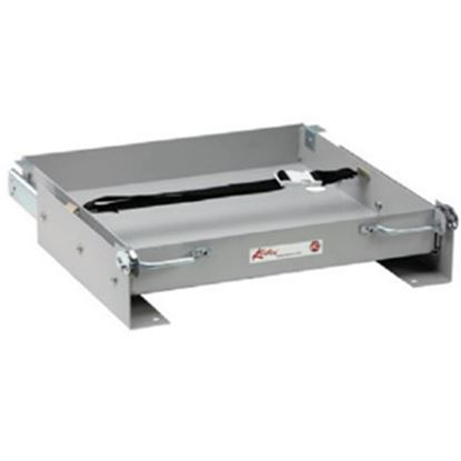 """Picture of Kwikee  24-13/16""""L x 25-1/8""""W x 3-3/16""""H Steel Battery Tray for 1-8 Batteries 366331 19-0723"""