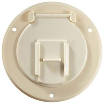 Picture of RV Designer  Colonial White Round Non-Lockable Access Door B122 19-1502