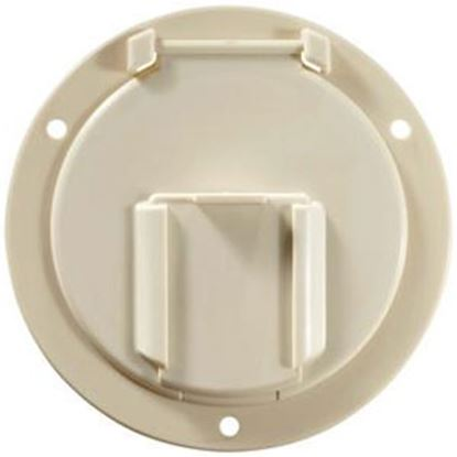 Picture of RV Designer  Colonial White Round Non-Lockable Access Door B132 19-1506
