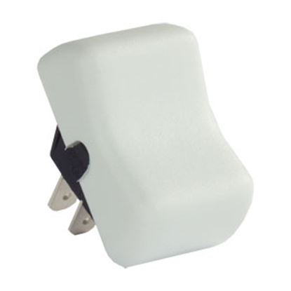 Picture of JR Products  White 125V/ 16A SPST Rocker Switch 14065 19-1615