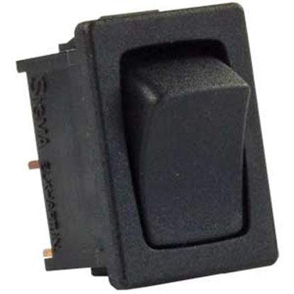 Picture of JR Products  5-Pack Black 12V SPST Rocker Switches 12811-5 19-1911