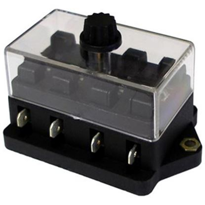 Picture of Battery Doctor  4-Way ATO/ATC Blade Fuse Block w/Cover 30110 19-1992