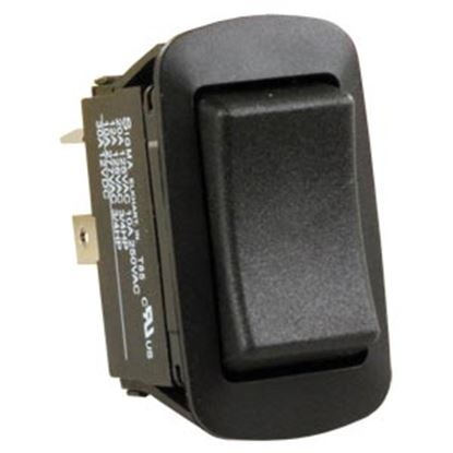 Picture of JR Products  Black 125V/ 20A DPDT Rocker Switch 13865 19-2010