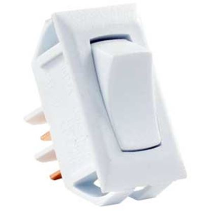 Picture of JR Products  White 125V/ 13A SPST Rocker Switch 13665 19-2013