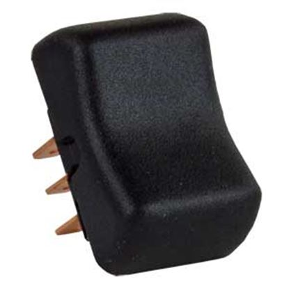 Picture of JR Products  Black 125V/ 8A DPDT Rocker Switch 13025 19-2095