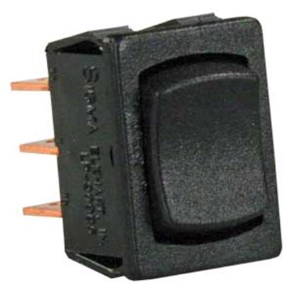 Picture of JR Products  Black 125V/ 13A DPDT Rocker Switch 13445 19-2145