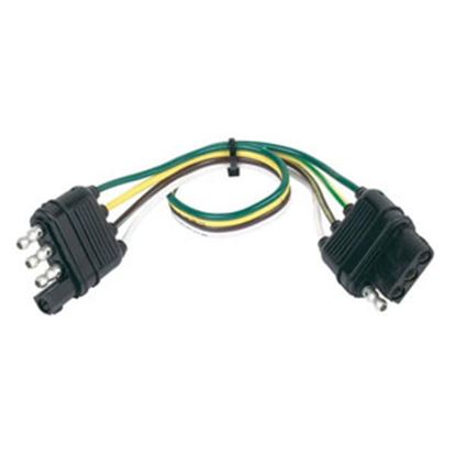 "Picture of Hopkins  4-Wire 12"" Trailer Connector Extension 48145 19-2377"