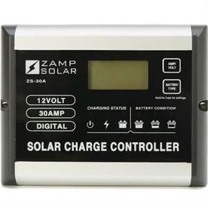 Picture of Zamp Solar  Digital 510W 30A Battery Charger Controller For Gel-Cell/ AGM/Conventional Lead Acid WET & Calcium B  19-2579