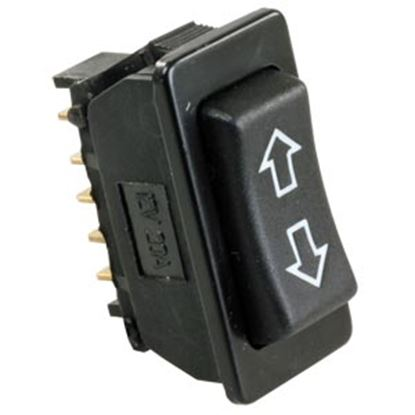 Picture of JR Products  Black 12V/ 120A Rocker Switch 13955 19-2598
