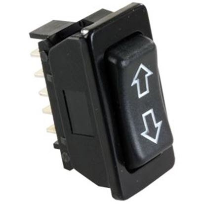 Picture of JR Products  Black 12V DPDT Rocker Switch 13925 19-2599