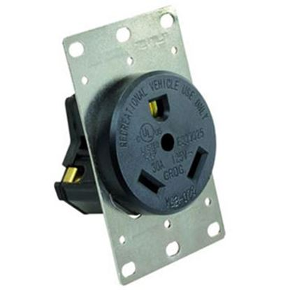 Picture of JR Products  125V/ 30A Single Receptacle 15075 19-2991