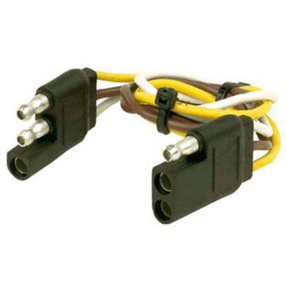 """Picture of Husky Towing  12"""" 3-Flat Trailer Wiring Extension Cord/Loop, Pkg 30268 19-3839"""