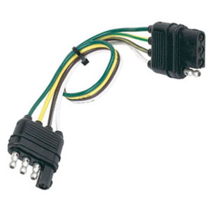 Picture of Husky Towing  4 Wire Flat Plug 12' Trailer Connector Extension, Pkg 30280 19-3853