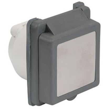 Picture of Marinco  Gray 125V/ 30A Single Indoor/Outdoor Receptacle 301ELRV.G 19-4083