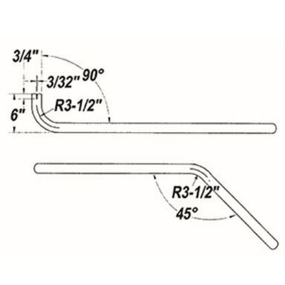 "Picture of Cummins Onan  1-1/2"" Dia 90/45 Deg Bend Generator Tailpipe for Cummins Onan 046-00745 19-4229"