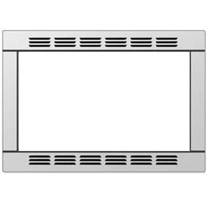 "Picture of Contoure  20-1/2""W x 15""H Stainless Steel Microwave Oven Trim Kit RV-TRIM9S 19-9194"