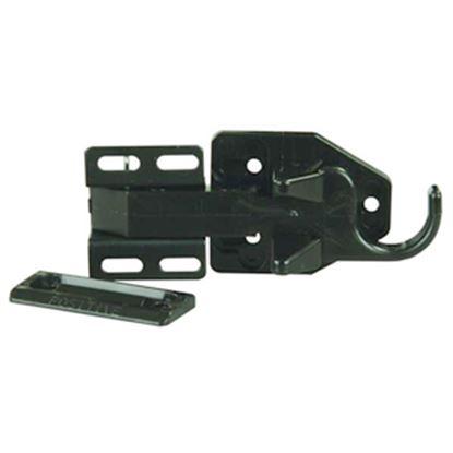 Picture of JR Products  Bullet Type Black Screen Door Latch 10785 20-0245