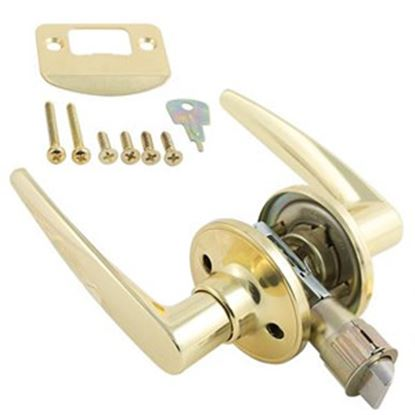 Picture of AP Products  Brass Entry Door Lock 013-230 20-0439