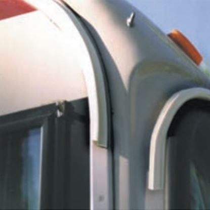 Picture of EZE  10'L Polar White Poly Vinyl Drip Rail For RV Roof Edge UW01004 20-1274