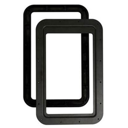 Picture of AP Products  Black Inner & Outer Entry Door Window Frame w/ Seal 015-2014782 20-1559