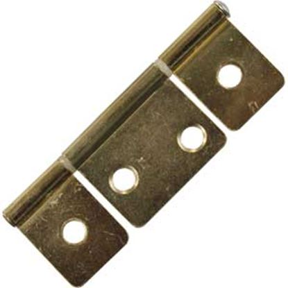 """Picture of JR Products  2-Pack Brass 3-1/2"""" Non-Mortise Hinge 70625 20-1905"""