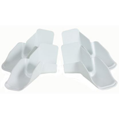 Picture of Camco  White Plastic Drip Rail Gutter Spout 42134 20-2537