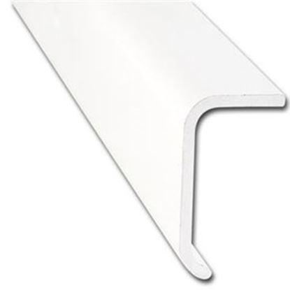 """Picture of AP Products  1-2/5""""W x 3/4""""T x 16'L Black Aluminum Long Leg Trim 021-86102-16 20-6994"""