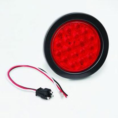 """Picture of Bargman  Red 4"""" Round LED Stop/ Tail/ Turn Light 47-01-031 20-7094"""