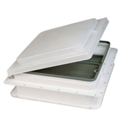 "Picture of Heng's  White 3"" Deep for 14""x14"" Opening Radius Roof Vent Garnish JRP1120B 22-0188"