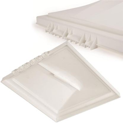 """Picture of Camco  White Polypropylene 14"""" x 14"""" Ventline Style Roof Vent Lid 40151 22-0193"""