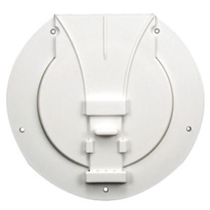 """Picture of JR Products  Polar White 3-27/32""""RO Utility/ Awning Pole Storage Access Door S-25-10-A 22-0549"""