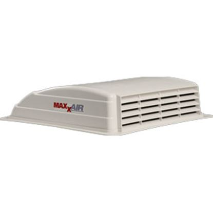 """Picture of MaxxAir  White 14"""" x 14"""" Roof Vent w/ Fan 00-003700 22-0579"""
