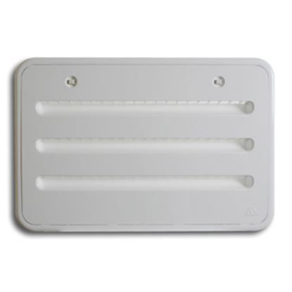 Picture of Dometic Helium White Polypropylene Refrigerator Side Vent For Atwood 13001 22-0684