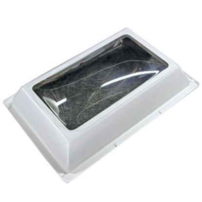 "Picture of Specialty Recreation  4""H Bubble Dome SQ White PC Skylight w/24"" X 24"" Flange N2222 22-0711"