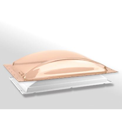 """Picture of Specialty Recreation  1-1/2""""H Bubble Dome Rectangle Bronze/White Polycarbonate Skylight K1422BLP 22-0811"""