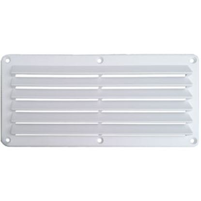 "Picture of Leisure Time  White ABS 5""L X 10""W Rectangular Wall Vent w/ Fixed Louvers DV510W 22-3553"