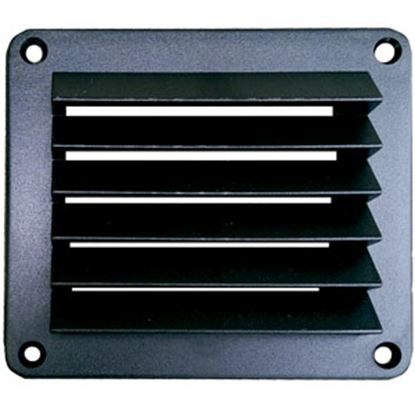 "Picture of Leisure Time  Black ABS 5"" Square Wall Vent w/ Fixed Louvers DV55B 22-3554"